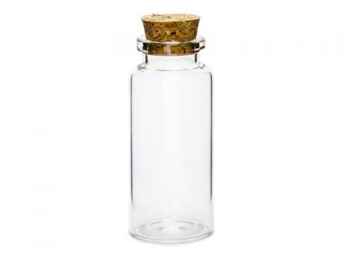 Buteleczki szklane z korkiem, 7,5cm