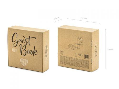 Księga gości puzzle - Serce, 45x35,5cm