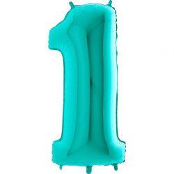BALON FOLIOWY OLBRZYM TIFFANY BLUE 101 cm