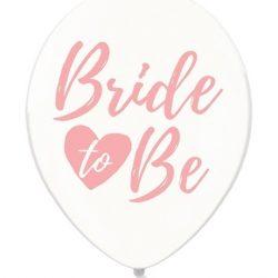 BALON PRZEZROCZYSTY BRIDE TO BE RÓŻOWY