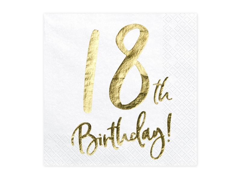 Serwetki 18 Urodziny Party Planners Organizacja Imprez