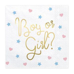 SERWETKI BOY OR GIRL