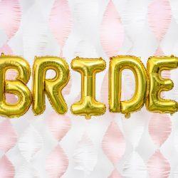 BALON FOLIOWY BRIDE ZŁOTY