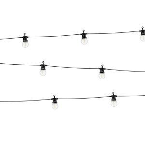LAMPKI DEKORACYJNE CZARNE 10 ŻARÓWEK