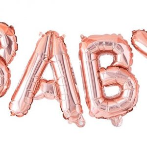 BALON FOLIOWY BABY ROSE GOLD