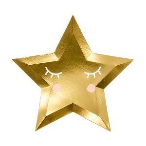 Talerzyki Gwiazda Złote Little Star