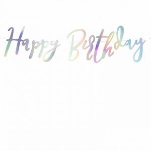 Banner Happy Birthday Opalizujący