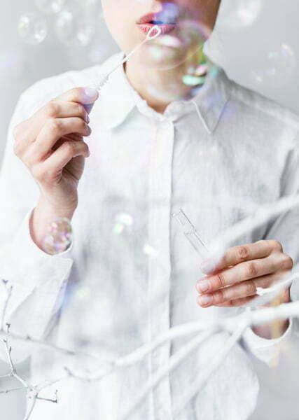 Bańki mydlane Serduszko, biały
