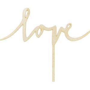 Topper drewniany Love