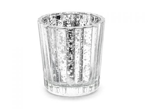Świecznik, srebrny 6 cm