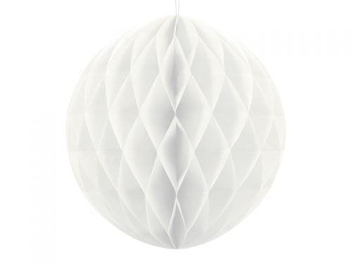 Kula bibułowa, biała, 40 cm