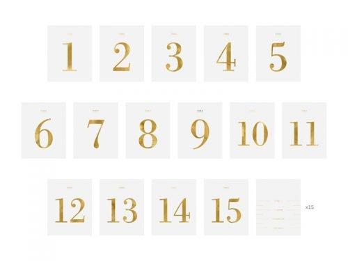 Numery na stół - zestaw naklejek