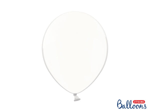 Balon Metalic, Biały 30 cm