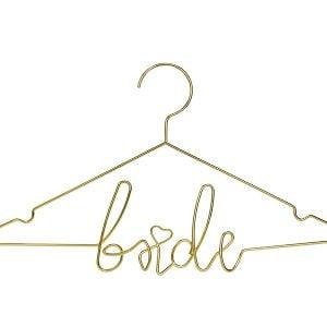 Metalowy wieszak Bride, złoty