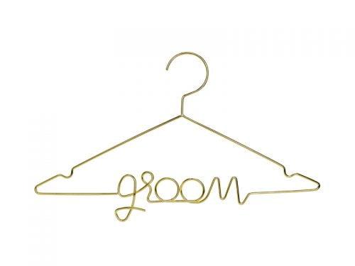 Metalowy wieszak Groom, złoty
