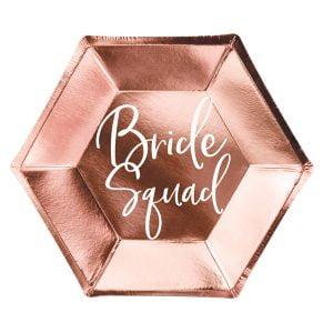 Talerzyki Bride Squad, Rose Gold