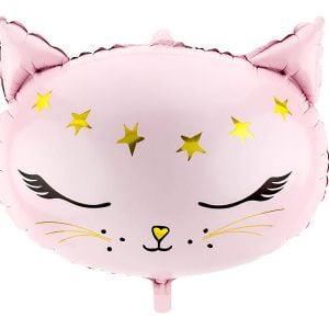 Balon Foliowy Kotek Różowy