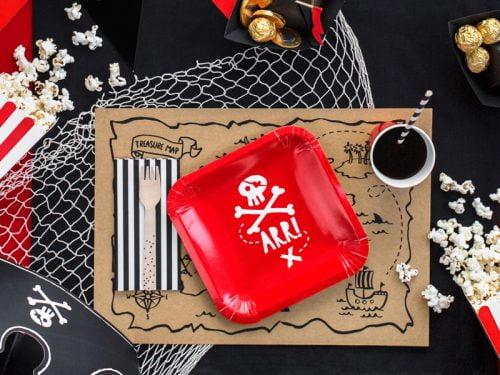 Talerzyki Piraci czerwone